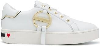 Love Moschino Logo Plaque Low-Top Sneakers