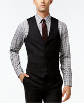 Bar III Black Solid Extra-Slim-Fit Vest