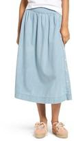 Madewell Women's Indigo Side Button Midi Skirt