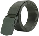 JasGood Mens Nylon 1.5in Width Adjustable Belt With Military Plastic Buckles