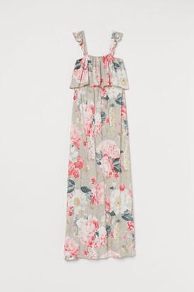H&M MAMA Long Jersey Dress - Brown