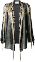 Alberta Ferretti bead embellished open jacket - women - Silk/Cotton/Polyester/PVC - 42