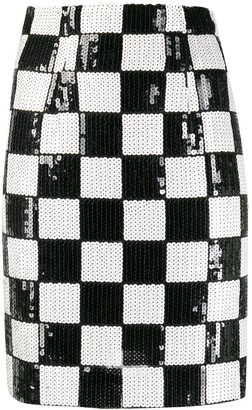 A.N.G.E.L.O. Vintage Cult 1990s Checked Fitted Mini Skirt