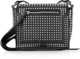 McQ Black Studded Leather Leather Mini Crossbody Bag