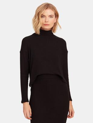 Enza Costa Knit Long Sleeve Crop Turtleneck Sweater