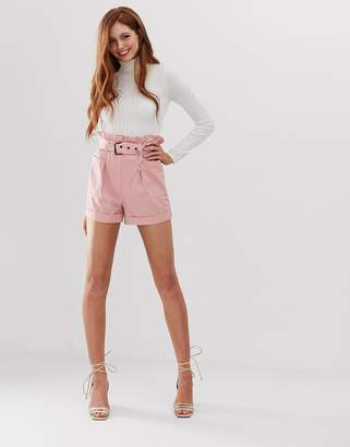 Stradivarius utility shorts in pink