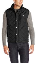 U.S. Polo Assn. Men's Diamond-Quilted Vest with Corduroy Collar