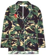Off-White Camouflage printed silk blouse