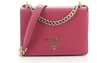 Prada Chain Flap Crossbody Bag Vernice Saffiano Leather Small