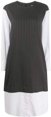 DKNY layered shirt dress