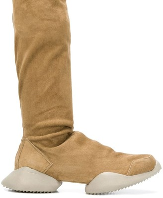 Rick Owens adidas by platform knee-length boots