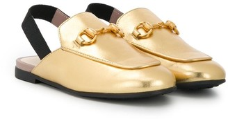 Gucci Kids Princetown leather slipper