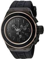Swiss Legend Men's 'Trimix Diver' Quartz Stainless Steel and Silicone Casual Watch, Color:Black (Model: 13845-BLK-RB)