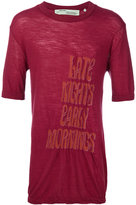 Off-White printed T-shirt - men - Polyamide/Polypropylene/Wool - S