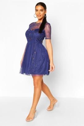 boohoo Boutique Embellished Skater Dress