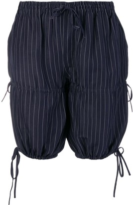 Jean Paul Gaultier Pre-Owned pinstripe gathered shorts