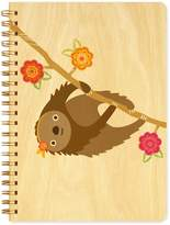 Night Owl Paper Goods Sylvie Sloth Wood Journal