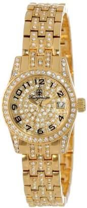 Burgmeister Diamond Star Bm120-299 Ladies Analogue Quartz Wristwatch Gold Swarovski Date
