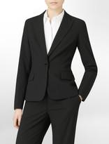 Calvin Klein Single Button Notched Lapel Blazer