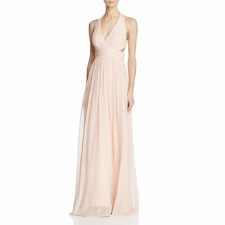 Aidan Mattox Aidan Women's Halter Cut Out Gown