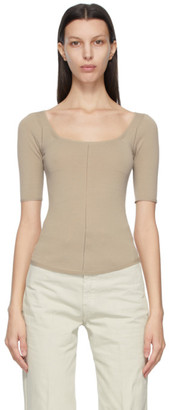 Lemaire Beige Second Skin Sweater