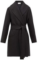 The Row Maddy Belted Wool-blend Felt Coat - Womens - Navy