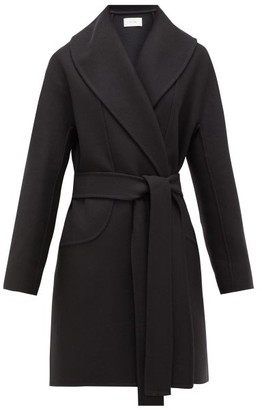 The Row Maddy Belted Wool-blend Felt Coat - Navy