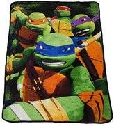 "Nickelodeon Teenage Mutant Ninja Turtles Micro Raschel Throw - 46"" x 60"""
