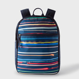 Paul Smith Boys' Navy Backpack With Light-Trail Print