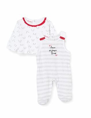 Brums Baby Girls' Compl.2 Pz.Interlock Salopette Con Piede Clothing Set
