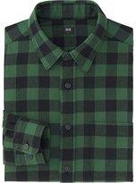 Uniqlo Men Flannel Buffalo Check Long Sleeve Shirt