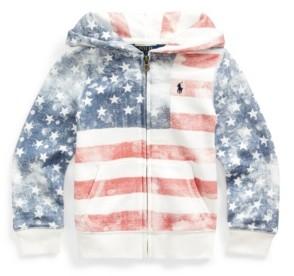 Polo Ralph Lauren Toddler Girls Flag French Terry Hoodie Sweatshirt