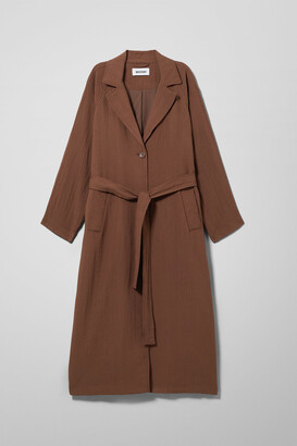 Weekday Amaya Trench Coat - Beige