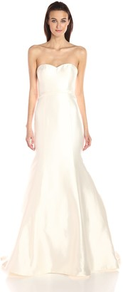 Jenny Yoo Women's London Silk Mikado Wedding Gown