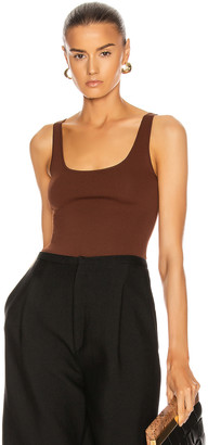 Totême Urda Tank in Dark Brown | FWRD