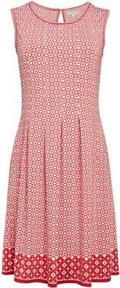 Max Studio Pleated Print Flare Dress