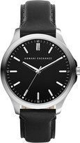 Armani Exchange AX2149 stainless steel and leather watch