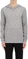 Barneys New York MEN'S MARLED COTTON-BLEND HOODIE