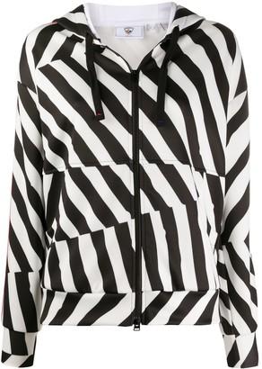Rossignol disconnected stripe zip-through hoodie