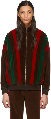 Gucci Brown and Multicolor Chenille Track Jacket