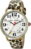 Betsey Johnson Women's BJ00207-16 Analog Display Quartz Brown Watch