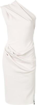 Maticevski One Shoulder Ruched Side Dress