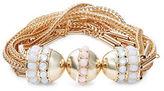 Nanette Lepore Multi-Row Chain and Beaded Magnetic Snap Bracelet