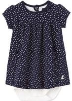 Petit Bateau Baby girls printed bodysuit dress