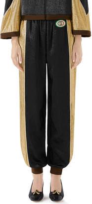Gucci Shimmer Crepe Harem Pants