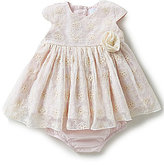 Edgehill Collection Baby Girls Newborn-6 Months Floral Lace Dress