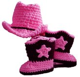 Newborn Baby Photography Outfits, Nodykka Photo Shoot Knitted Cowbow Hat Boots Props