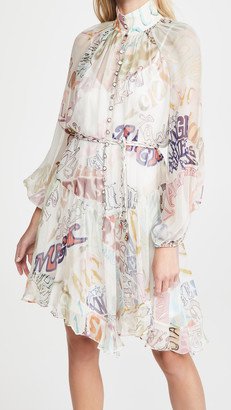 Zimmermann Ladybeetle Angled Mini Dress