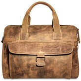 Jack Georges Genuine Full Grain Hunter Finish Buffalo Leather Over Nighter Day Bag