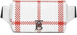 Burberry Lola Check Woven Leather Belt Bag